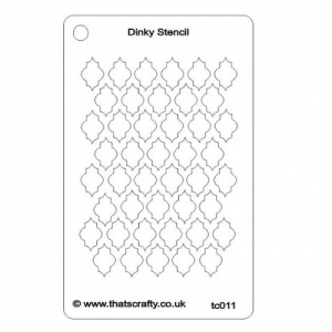 That's Crafty! Dinky Stencil - Quatrefoil 1 Background - TC011