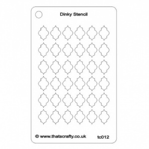 That's Crafty! Dinky Stencil - Quatrefoil 2 Background - TC012