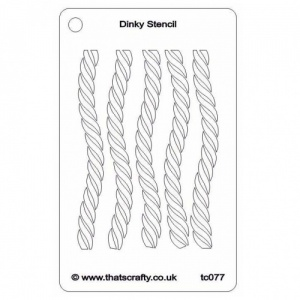 That's Crafty! Dinky Stencil - Rope - TC077