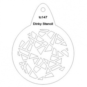 That's Crafty! Round Dinky Stencil - Shattered - TC147