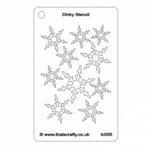 That's Crafty! Dinky Stencil - Snowflake Background - TC055