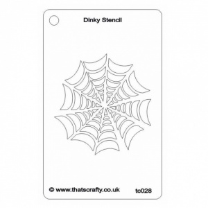 That's Crafty! Dinky Stencil - Spiders Web - TC028