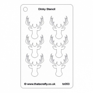 That's Crafty! Dinky Stencil - Stags Head Background - TC053
