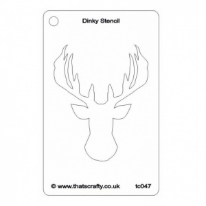 That's Crafty! Dinky Stencil - Stags Head - TC047