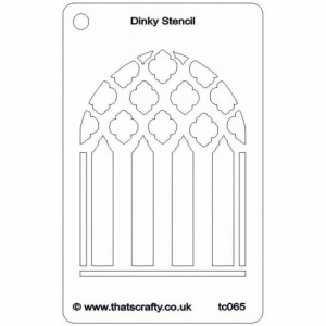 That's Crafty! Dinky Stencil - Church Window - TC065