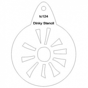 That's Crafty! Round Dinky Stencil - Sun Burst - TC124