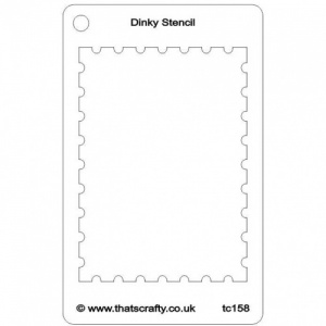 That's Crafty! Dinky Stencil - Postage Stamp - TC158
