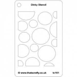 That's Crafty! Dinky Stencil - Circles - TC161