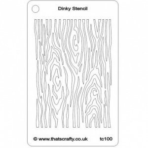 That's Crafty! Dinky Stencil - Tree Bark - TC100