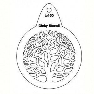 That's Crafty! Round Dinky Stencil - Tree - TC150