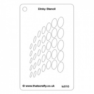 That's Crafty! Dinky Stencil - Wave Circles - TC010