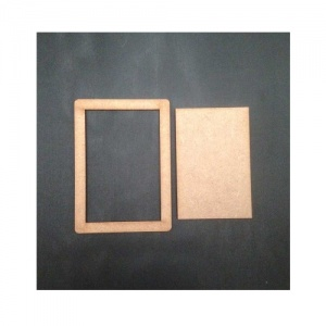 That's Crafty! Surfaces MDF Frames and Inserts  - Pack of 10