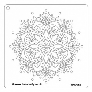 That's Crafty! 6ins x 6ins Stencil - Magnificent Mandala - TC60052