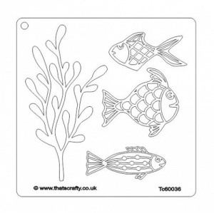 That's Crafty! 6ins x 6ins Mask - Fishy Seaweed