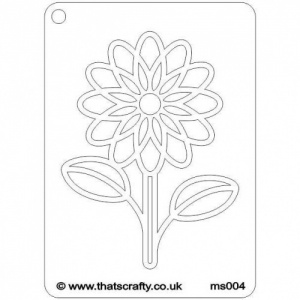 That's Crafty! Mini Stencil - Daisy - MS004