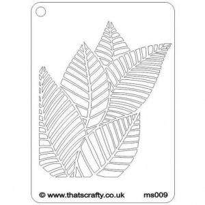 That's Crafty! Mini Stencil - Leaves - MS009