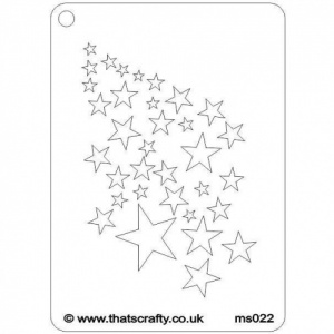 That's Crafty! Mini Stencil - Stars - MS022
