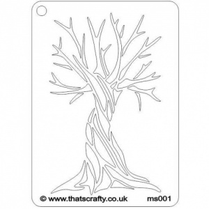That's Crafty! Mini Stencil - Tree - MS001