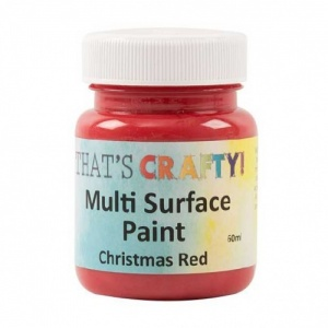 That's Crafty! Multi Surface Paint - Christmas Red