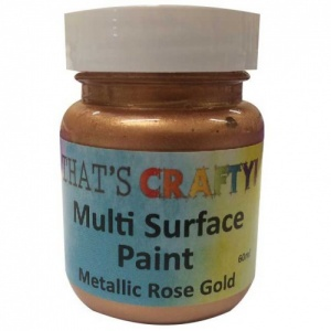 That's Crafty! Multi Surface Paint - Metallic Rose Gold