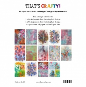 That's Crafty! A4 Paper Pack - Darks and Brights