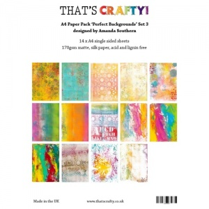 That's Crafty! A4 Paper Pack - Perfect Backgrounds Set 3