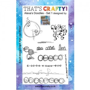 That's Crafty! Clear Stamp Set - Alexa's Doodles - Set 1