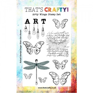 That's Crafty! Clear Stamp Set - Arty Wings