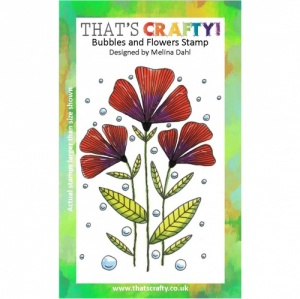 That's Crafty! A6 Clear Stamp - Bubbles and Flowers