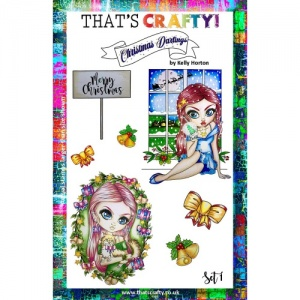 That's Crafty! Clear Stamp Set - Christmas Darlings Set 1