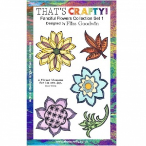 That's Crafty! Clear Stamp Set - Fanciful Flowers Collection - Set 1