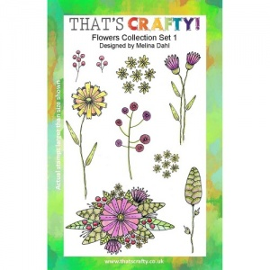 That's Crafty! Clear Stamp Set - Flowers Collection - Set 1