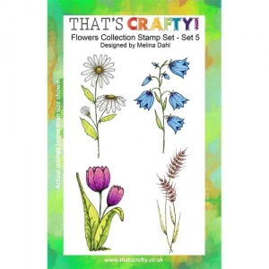That's Crafty! Clear Stamp Set - Flowers Collection - Set 5