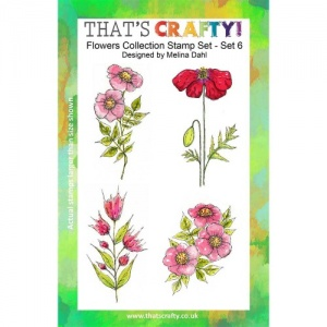 That's Crafty! Clear Stamp Set - Flowers Collection - Set 6