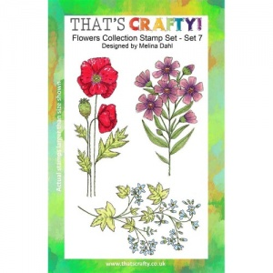 That's Crafty! Clear Stamp Set - Flowers Collection - Set 7