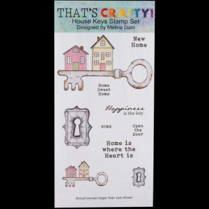 That's Crafty! Clear DL Stamp Set - House Keys