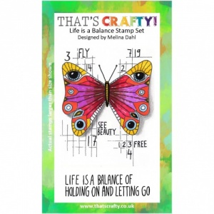 That's Crafty! A6 Clear Stamp Set - Life is a Balance