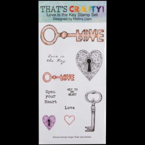That's Crafty! Clear DL Stamp Set - Love is the Key