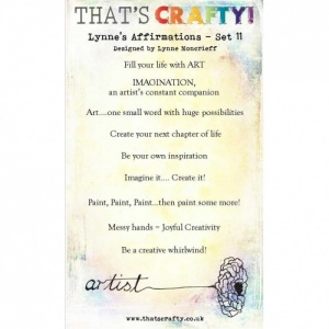 That's Crafty! Clear Stamp Set - Lynne's Affirmations - Set 11
