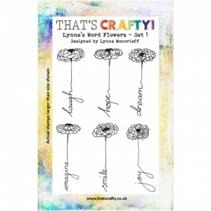 That's Crafty! Clear Stamp Set - Lynne's Word Flowers - Set 1
