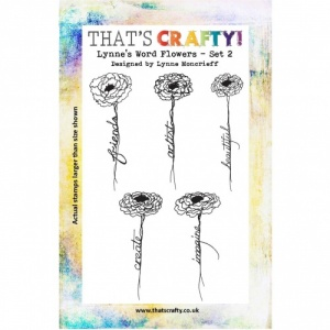 That's Crafty! Clear Stamp Set - Lynne's Word Flowers - Set 2