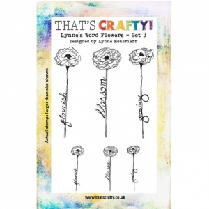 That's Crafty! Clear Stamp Set - Lynne's Word Flowers - Set 3