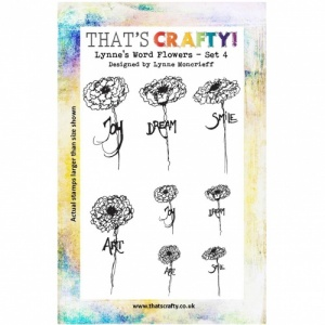 That's Crafty! Clear Stamp Set - Lynne's Word Flowers - Set 4