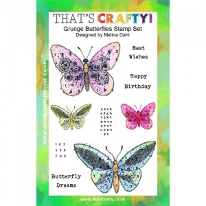 That's Crafty! Clear Stamp Set - Grunge Butterflies