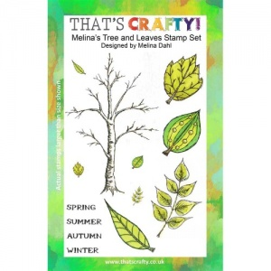 That's Crafty! Clear Stamp Set - Melina's Tree and Leaves