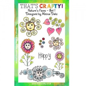 That's Crafty! Clear Stamp Set - Nature's Faces - Set 1