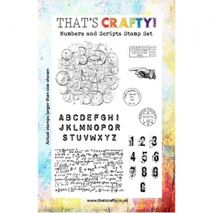 That's Crafty! Clear Stamp Set - Numbers and Scripts