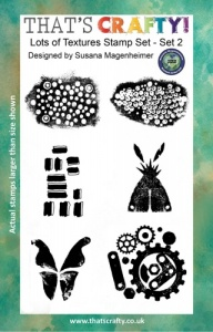 That's Crafty! Clear Stamp Set - Random Artist 222 - Lots of Textures Set 2