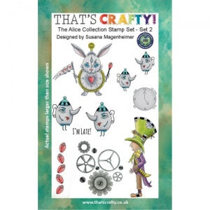 That's Crafty! Clear Stamp Set - Random Artist 222 - The Alice Collection Set 2
