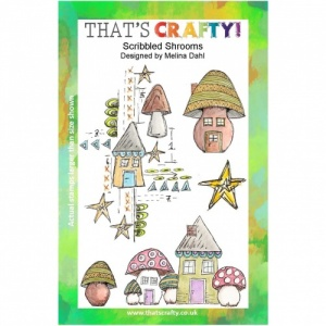 That's Crafty! Clear Stamp Set - Scribbled Shrooms